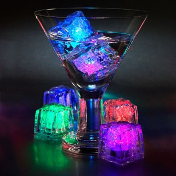 LED Liquid Activated Glow Ice Cubes (Pack of 12)