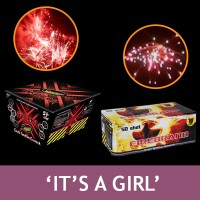 It's a Girl Gender Reveal Firework Bundle