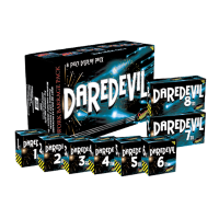Daredevil Barrage Selection Box (8 Large Fireworks)