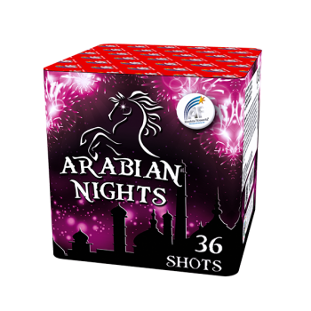 Arabian Nights Roman Candle Cake (36 Shots)