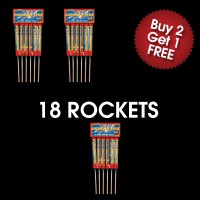 Shooting Star Rockets (3 For 2 Deal)