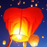 Heart Shaped Sky Lantern