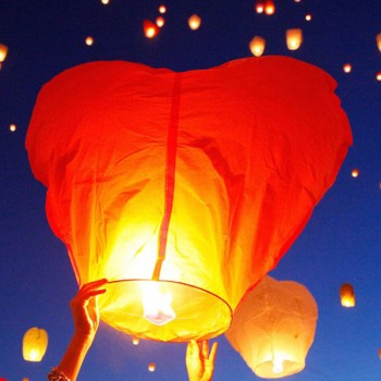 Heart Shaped Sky Lantern