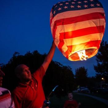 American Flag Sky Lantern