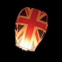 Union Jack Flag Sky Lantern