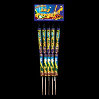 Sky Power Rockets (Pack of 10)