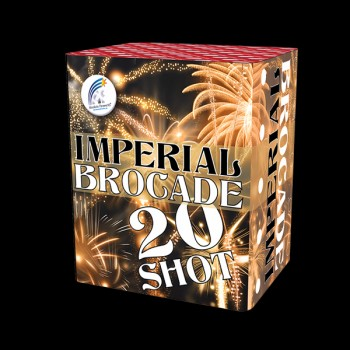 Imperial Brocade Roman Candle Cake (20 Shot)