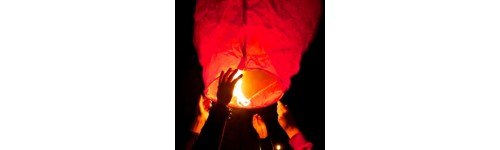 Coloured Chinese Sky Lanterns