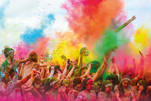 Coloured Powder Blast