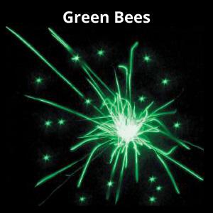 Green Bees Firework Effect