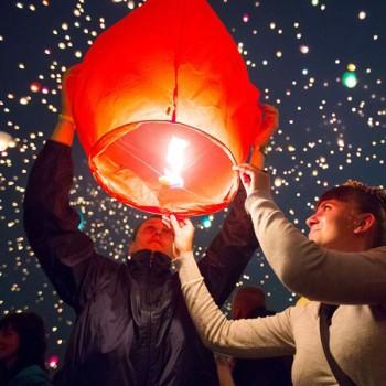 Coloured Sky Lanterns (BULK BUY - Pack of 10)